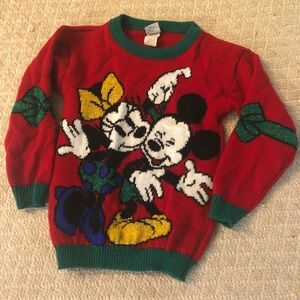 Other - Vintage Mickey/Minnie Holiday Sweater 5/6